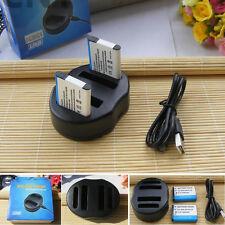2XEN-EL19 Battery +  DUAL USB Charger For Nikon Coolpix S3100 S6900 A100
