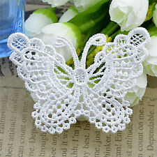 Butterfly Lace Patches Embroidery Wedding Applique Trim Clothing Accessories  GQ