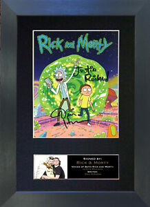 RICK & MORTY Signed Mounted Reproduction Autograph Photo Prints A4 749