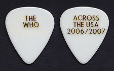 The Who Pete Townshend White Guitar Pick - 2006 2007 USA Tour