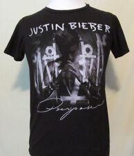 Mens Size Small Justin Bieber Purpose Concert Tour Black Tee Shirt