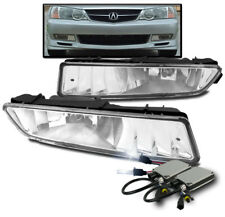 2002-2003 ACURA TL CHROME FRONT BUMPER FOG LIGHTS DRIVING LAMPS CLEAR+8K HID SET