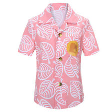 Animal Isabelle Shirt Cosplay Costume Short Sleeve Button up Tops For Girl In Us