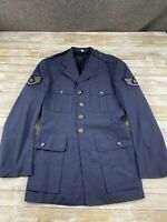 VTG USAF MEN SIZE 40L MAN'S COAT WOOL TROPICAL 100% WOOL BLUE UNIFORM
