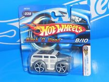 Hot Wheels 2005 Short Card First Editions Blings #038 Block 'O Wood Grey & White