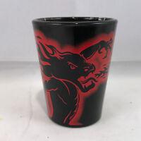 Brand New Fireball Cinnamon Whiskey Black Shot Glass Fire-Breathing Dragon