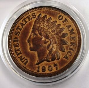Nice 1907 Indian Head Cent Penny 1c US Coin - #157
