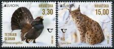 Croatia Europa Stamps 2021 MNH Caipercaillie Lynx Endangered Ntl Wildlife 2v Set