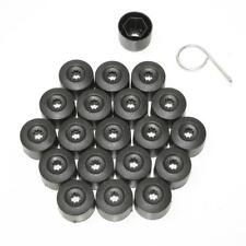 20 x Negro CAPS tornillos de rueda Tuercas Las 17mm PARA SUZUKI VITARA SAMURAI