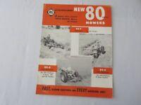 Vintage Allis Chalmers 80 Series Mower Sales Brochure Catalog Tractor