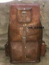 Bag Vintage Style Superior Quality Genuine Leather New Rucksack Backpack Travel