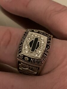 *Discontinued*Jostens Men's Harley Davidson 10K white gold Owners Ring. NO RESRV