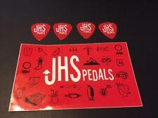 """JHS Pedals Stomp Box CUSTOM STICKER  3"""" x 5 """"  Plus 4 Thin Picks"""