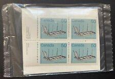 Canada 1985 #930 Medium-Value Artifact Definitives Sleigh Stamp Block X4 MNH