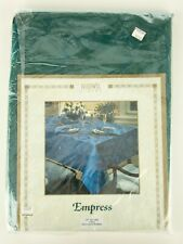 """EMPRESS - Green Brocade 70"""" Round Tablecloth - Holiday - Bardwil Linens - NEW"""
