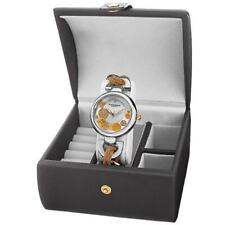 Akribos XXIV AK895TTG Womens Diamond Twist Chain Watch and Jewelry Gift Box Set