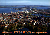 Brücken Motiv-AK Bridge Brücke RÜGENBRÜCKE Fernansicht Hansestadt STRALSUND BRD