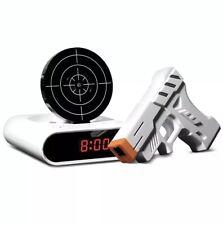 Sharper Image Laser Target Alarm Clock Bedroom Music Blaster Target Gift Men's