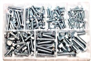 Assorted Box of QTY 150 Metric Setscrews M5 M6 M8 M10 Bolts Set Screws BZP AT12