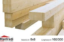 Travi in Legno Lamellare di Abete GL24h, Sez. 8x8 cm, Lunghezza da 160 a 300 cm