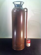 "Antique Copper & Brass Fire Extinguisher 2.5 Gallon Empty SodAcid 24"" Tall 7"" W"