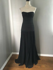 $398* BCBG Black Sweetheart Strapless Silk Homecoming Gown Dress Size 4 XS Small