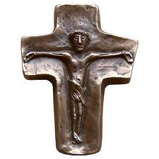 Bronzekreuz Kruzifix 9 cm * 7,5 cm Kommunion Bronze Cross Crucifix