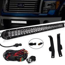 2011 Ford F150 22'' Inch Combo LED Work Light Bar + Front Bumper Mount Brackets