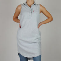 Levi's Damen Sommer- blau langes Hemd