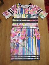 Atmosphere Short Sleeve Floral Dresses Midi