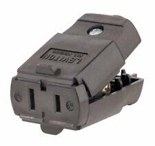 Leviton Thermoplastic Polarized Connector 1-15R 2 Pole 2 Wire