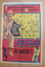 THE STEEL LADY '53 Original OS Movie Poster ROD CAMERON & TAB HUNTER