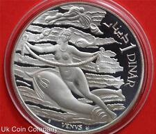 1969 Túnez Venus plata prueba de moneda Dinar uno