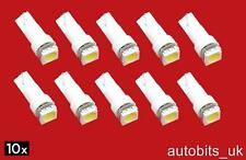 10 pcs WHITE T5 286 1 SMD 5050 Wedge LED 1W Lighting Light Bulb Dashboard 12V