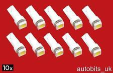 10 PC BIANCO T5 286 1 SMD 5050 CUNEO LED 1W illuminazione LAMPADINA Cruscotto 12V