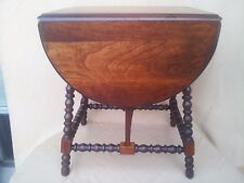 ANTIQUE BUTTERFLY DROP LEAF TABLE SMALL OCCASIONAL WALNUT TABLE
