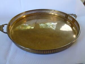 BRASS SERVING TRAY HAND MADE IN INDIA
