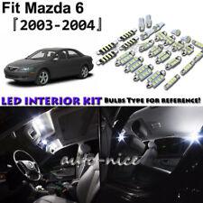 11x White LED Interior Lights Package Kit For 2003 2004 Mazda 6