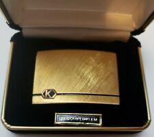 10k Gold Emblem Vintage Belt Buckle With