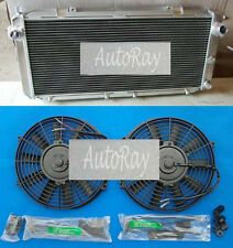 Aluminum Radiator & Fans for Toyota MR2 SW20 3SGTE 90-97 91 94 95 96 1997 2Row