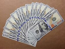 $100 Bills (10) - Best Movie Prop Money  - Fake Prank - Looks Real