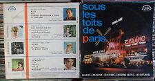 SOUS LES TOITS DE PARIS  CZECH SUPRAPHON  LP: FERRE AZNAVOUR BREL+ (SUA 14472)