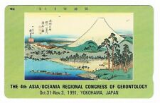 JAPAN • 1991 Phonecard • 4th Asia Regional Congress of Gerontology
