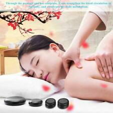8Pc Professional Oval Hot Spa Rock Basalt Oil Massage Lava Natural Energy Stone
