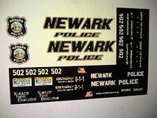 Newark New Jersey Police Patrol Vehicle Decals Custom 1:24