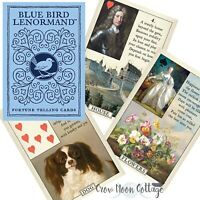 BLUE BIRD LENORMAND CARD DECK Wicca Pagan Witchcraft Petite Lenormand
