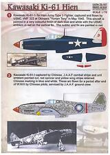 Print Scale Decals 1/72 KAWASAKI Ki-61 HIEN TONY Japanese WWII Fighter