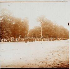 Fontainebleau Défilé militaire du 14 Juillet 1909 Stereo Verre R1 Positive