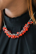 """Boulevard Beauty"" Red Necklace Set By Paparazzi"