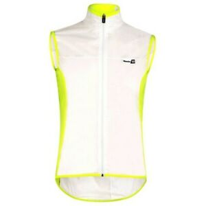 ICE 2.0 Cycling Wind Vest - in Clear / Yellow - Made it Italy by Santini
